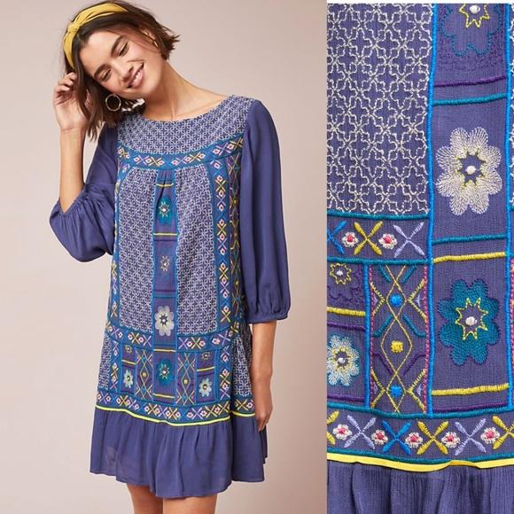9cc5b814c0 NWT ANTHROPOLOGIE Patna Embroidered Dress